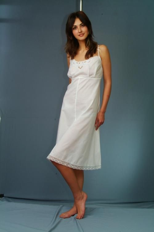 Women's chemise with thin straps