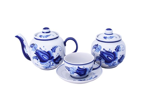 Dulevo porcelain / Tea set 14 pcs. Amber Tulip