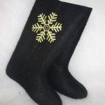 Boots with embroidery  Snowflake (MB)
