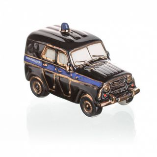 "Christmas tree toy ""UAZ police black"""