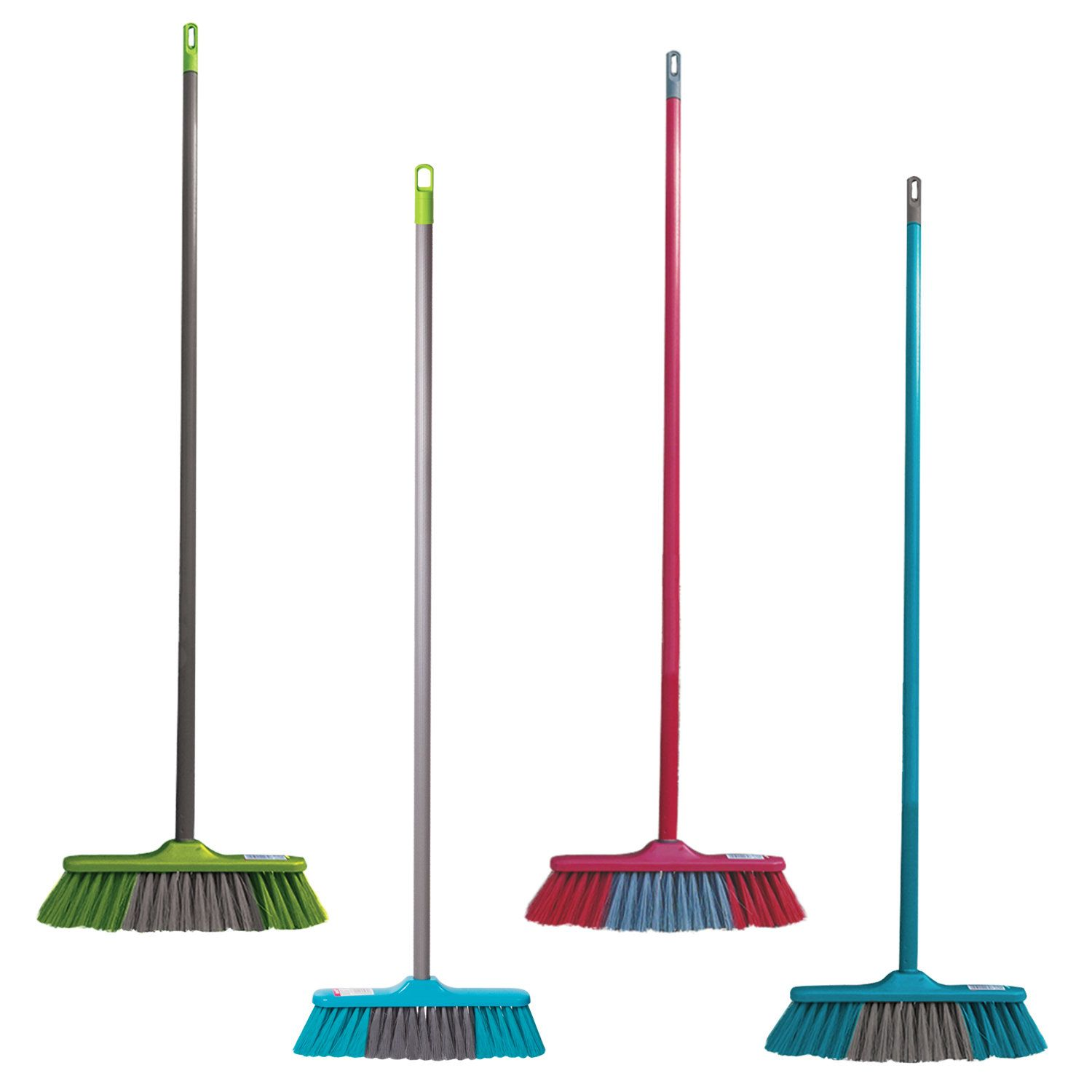 """YORK / Brush """"Frontiera"""" for cleaning with a handle 110 cm, width 31 cm, bristles 7 cm, plastic, European thread"""