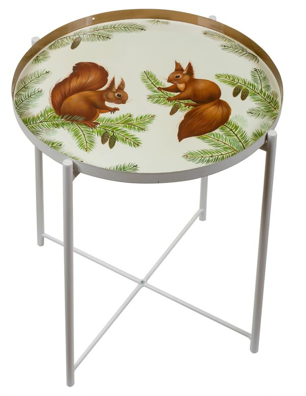 Zhostovo / Serving table with a removable tray, by Sholokhova T. 45x53 cm