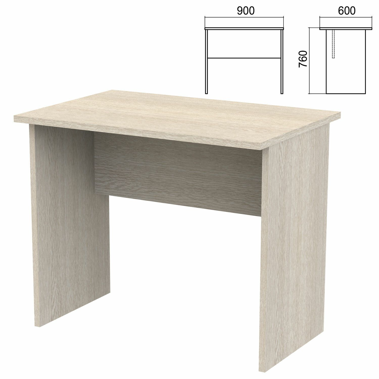 """Table written """"Argo,"""" 900x600x760 mm, ash chimo"""