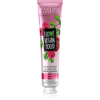 Intensive protective hand cream - raspberry, coriander series i love vegan food, Eveline, 50 ml
