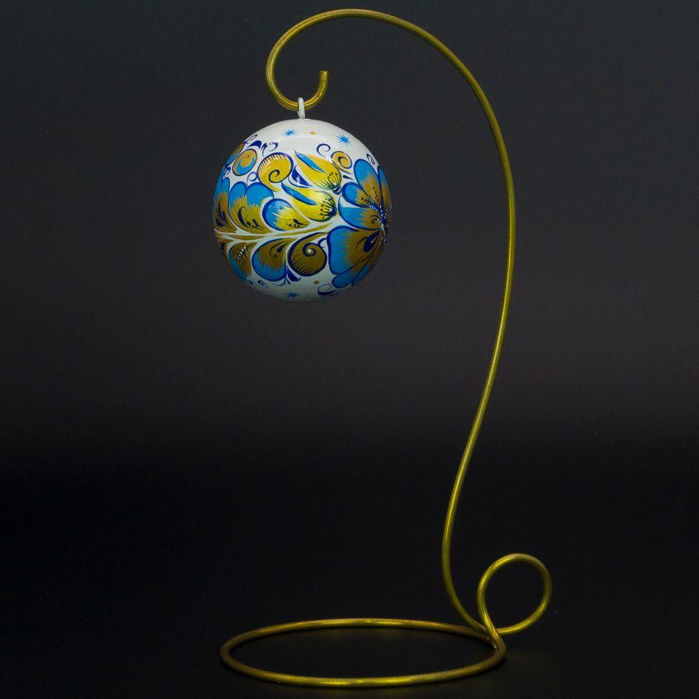 Fishing / Christmas tree wooden ball, 65 mm