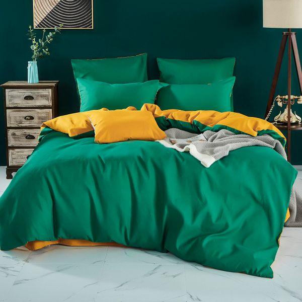 Citrade / Bedding set Solid Satin CS031, Euro 4 pillowcases
