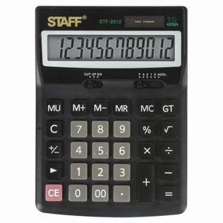 Desktop calculator STAFF STF-2512 (170x125 mm), 12 digits, dual power supply