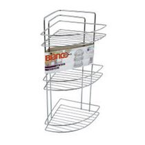 3 Tier FreeStanding or Wall Mounted, Cornered, Soap and Shampoo Holder
