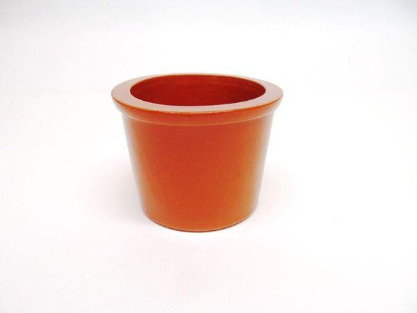 Vyatka ceramics / Set of 6 muffin tins, 0.2 l. (Orange)