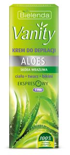 Hair removal cream body, face and bikini AL , BIELENDA VANITY , 100ml
