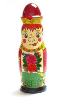 "Souvenir case ""Emelya"" - damask for a 0.5-liter bottle"