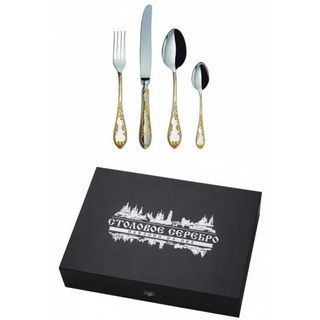 """The Cutlery set """"ambassadorial"""" with gilding on the handle 24 of the subject, Pavlovsky plant"""