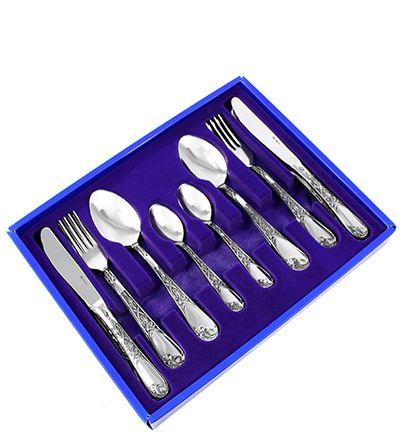 Pavlovsk plant / Set of cutlery 'Irises', 24 items