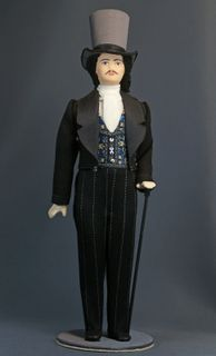 Doll gift porcelain. Dandy. The secular male costume. 1st half of the 19th century.