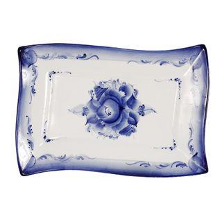 Plate Cascade 1 grade, Gzhel Porcelain factory
