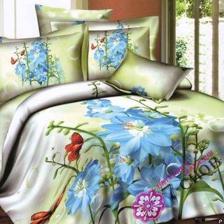 Satin bed linen 3D Malva