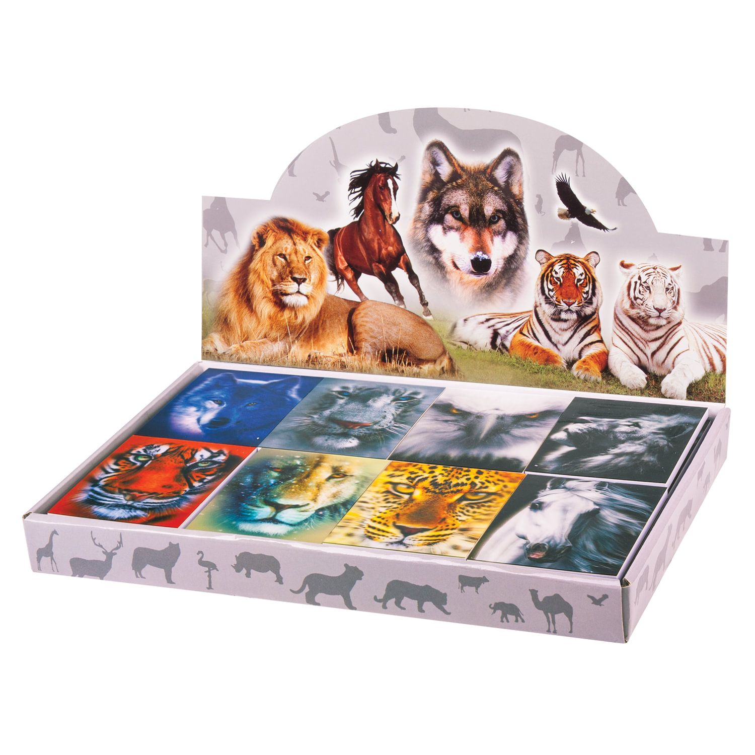 """BRAUBERG / Non-ruled notebook """"Animals"""" SMALL FORMAT 40 sheets A7, 64x82 mm, gluing, plastic 3D cover, assorted"""