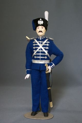 Doll gift. Cossack alamanac, 1867-78гг. The military uniform. Russia.