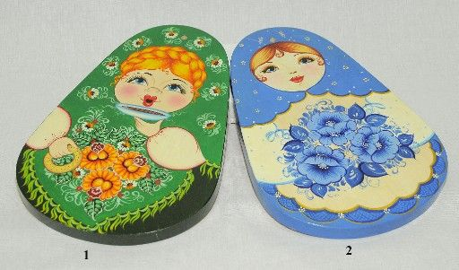 Vyatka souvenir / Painted chopping board 'Drop'