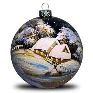 Christmas ball Village winter