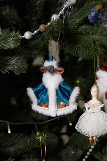 Christmas toy, the symbol of the 2020 Mouse-Santa Claus, 14 cm