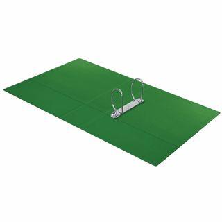 Folder on the 2 rings BRAUBERG, cardboard/PVC, 75 mm, green, 500 sheets (double life)