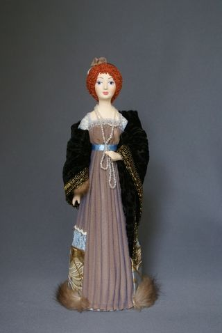 Doll gift. Ladies ' evening costume. The beginning of the 20th century, Saint-Petersburg, Russia