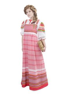 "Sundress female in the Russian folk style ""Summer afternoon"""