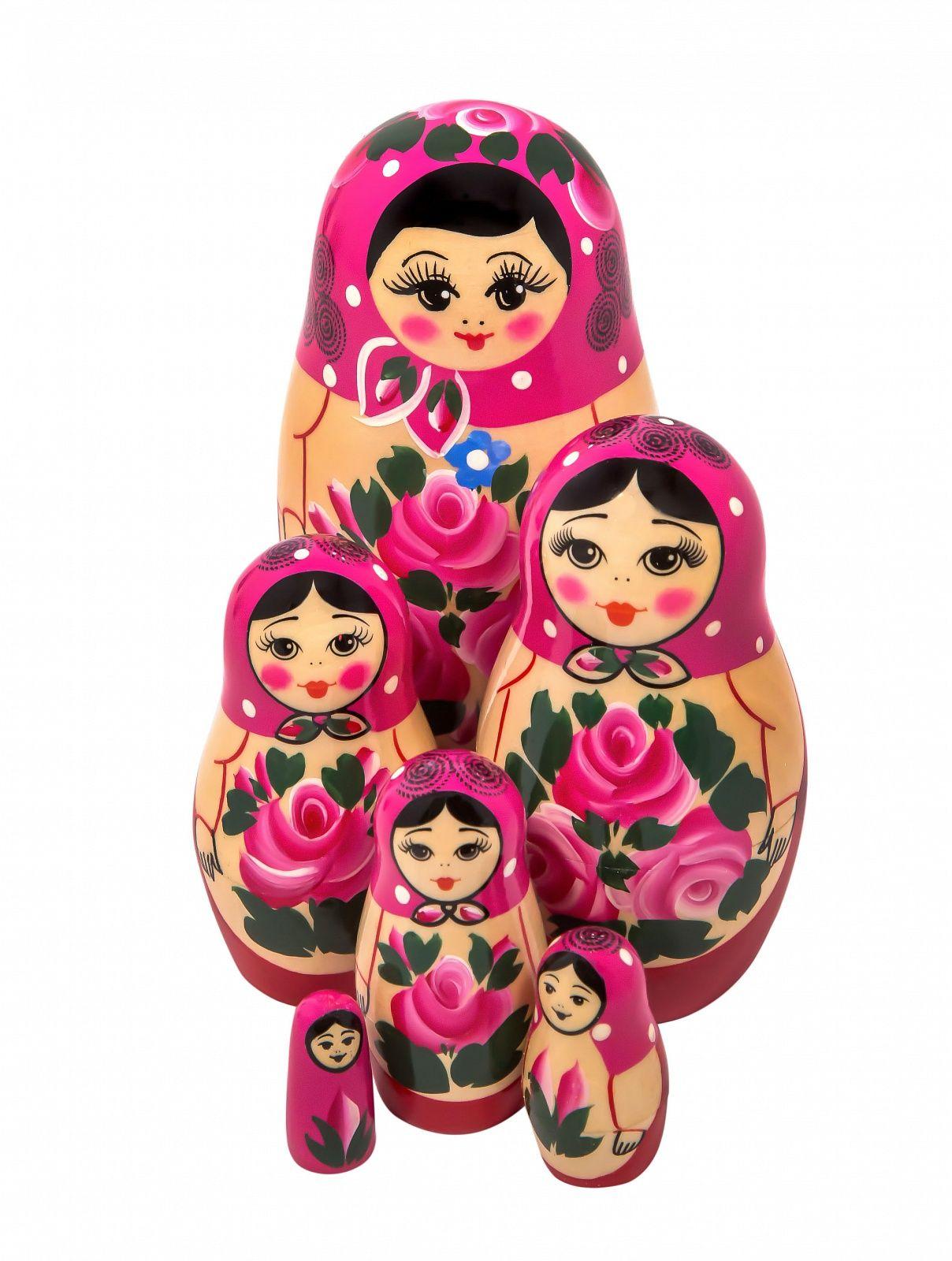 Khokhloma painting / Matryoshka non-traditional 6 dolls