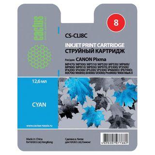 Inkjet cartridge CACTUS (CS-CLI8C) for CANON Pixma iP4200 / 4300/4500/5200/5300, blue