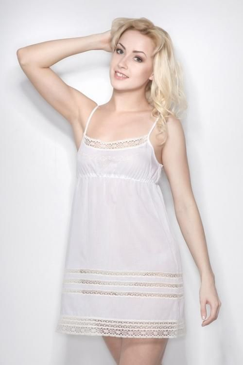 "Chemise nightwear women's ""Sweet fantasy"" embroidery on the bodice"