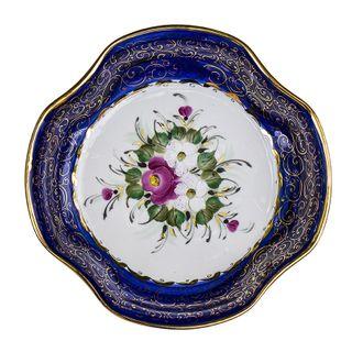 Bowl, overglaze painting, Gzhel Porcelain factory