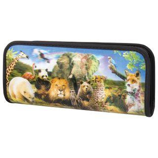 Pencil case-cosmetic bag BRAUBERG, with 3D effect, plastic, Zoo, 22х10х5 cm