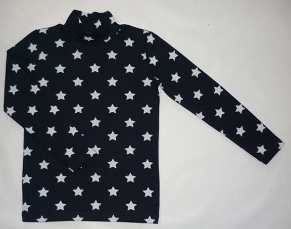 "Polo-neck children's riban printed ""Stars"""