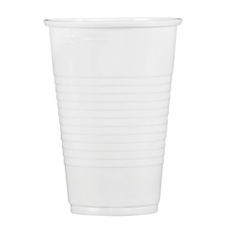 STYROLPLAST / Disposable cups 200 ml, SET 100 pcs., Plastic, white, PP, cold / hot