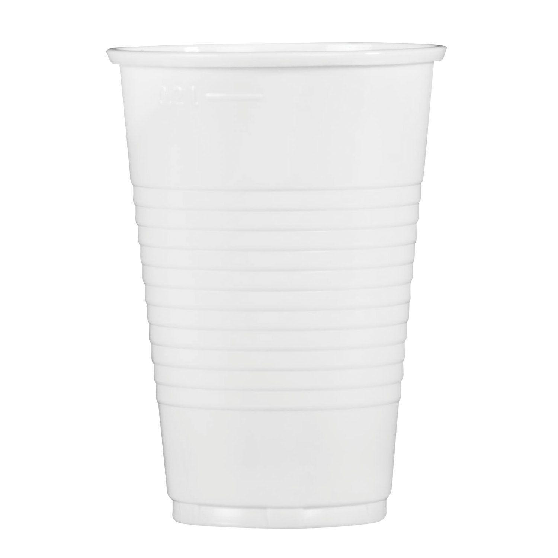 STYROLPLAST / Disposable cups 200 ml, SET 100 pcs., Plastic, white, PP, cold / hot