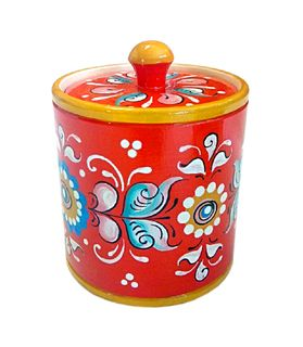 "Wooden barrel ""Shenkur red painting"" 9 cm"