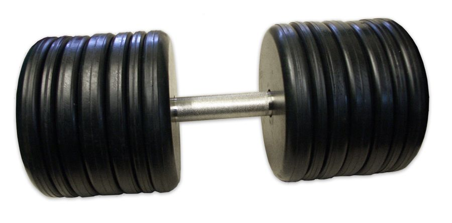 MB Barbell / Non-separable dumbbell (classic) with a rotating chrome handle - black, 60 kg