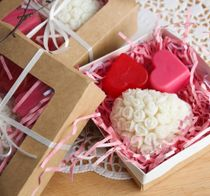 Mini soap set handmade Love you