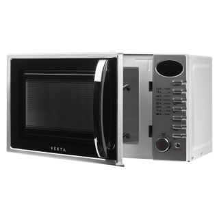 VEKTA TS720ATS microwave oven, 20 litres, 700 W, electronic control, timer, silver