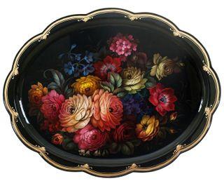Zhostovo / Unique tray, author Meshkova E. 72x57 cm