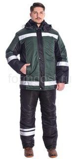"Suit ""Meridian 2"" with insulated pant, green + black"
