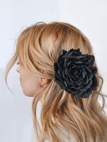 Brooch hairpin Rose black