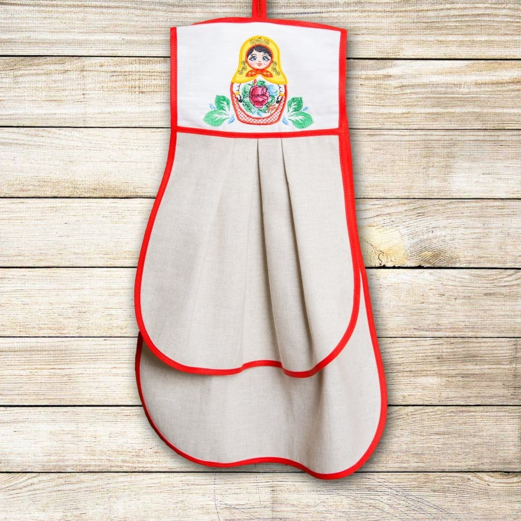 "Kitchen towel ""Matryoshka Semenovskaya"""
