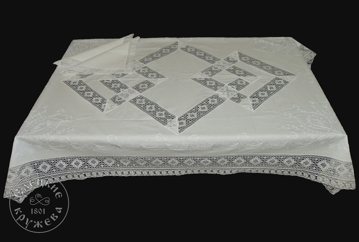 """Yelets lace / Table set """"Tablecloth and napkins"""" С532Б"""