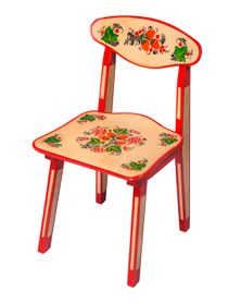 Children's chair with artistic painting