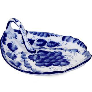 The salad bowl Petal 2nd grade, Gzhel Porcelain factory