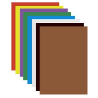 Cardboard A4 colored COATED (glossy), 8 sheets in 8 colors, PYTHAGORAS, 200х283 mm, Dyuymovochka