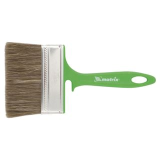 Brush flat 100 mm, mixed bristles, plastic handle, for woodwork, MATRIX