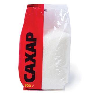 Granulated sugar 0.9 kg, plastic packaging